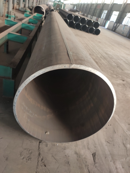 What are the details of large-diameter steel pipes before use?